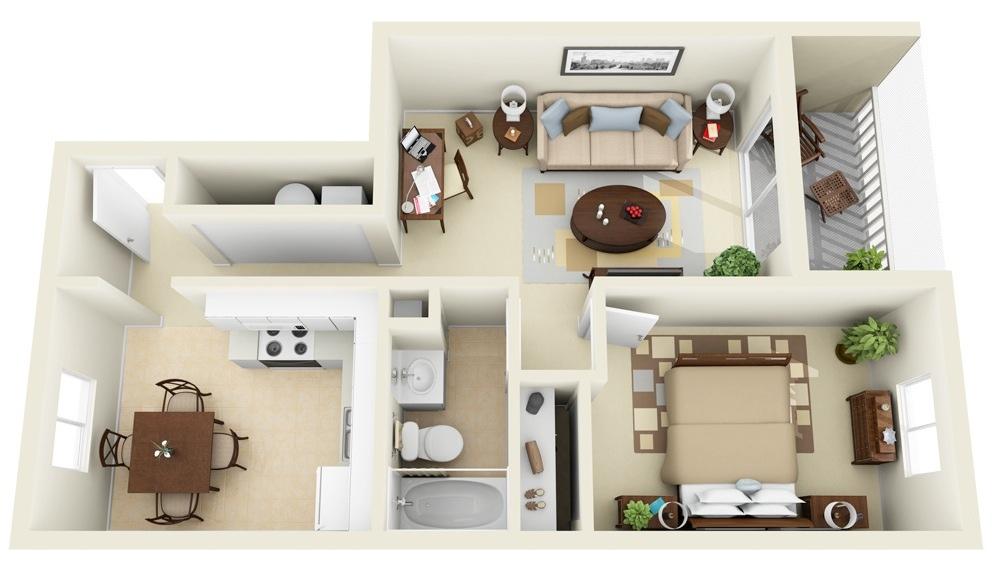 planos de casas 1 recamara