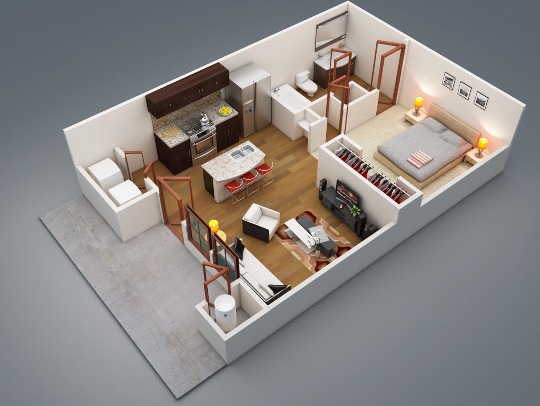+ de 50 planos de casas o departamentos de 1 recamara