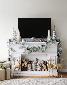 Decoración para Navidad en Color Beige y Dorado… ¡Te encantará!