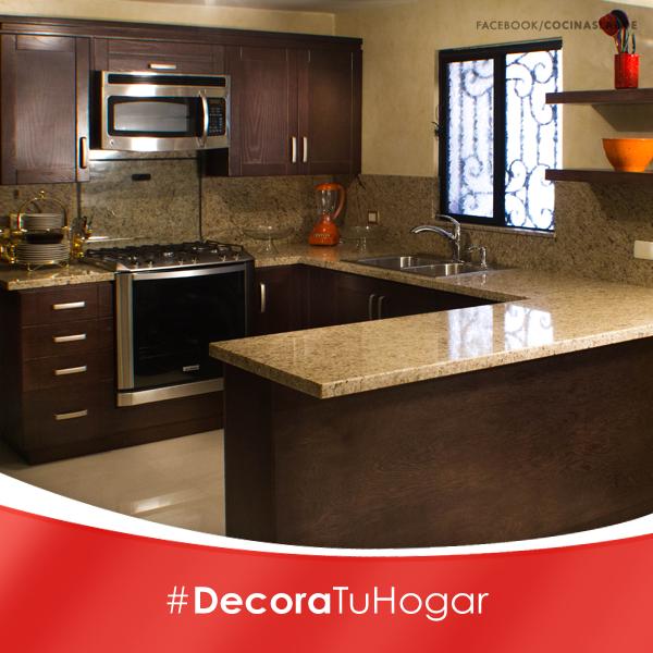Cocinas peque as decoraci n curso de decoracion de - Cocinas pequenas en forma de ele ...