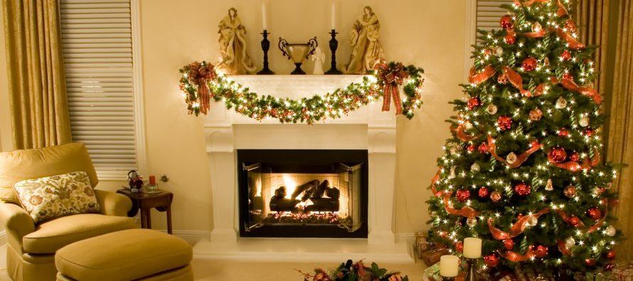 Como decorar chimeneas en navidad decoracion de - Como adornar en navidad ...
