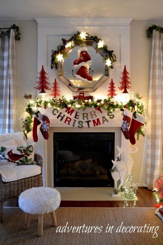 Como decorar chimeneas en navidad 8 decoracion de - Modelos de chimeneas decorativas ...