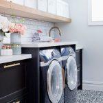 Cuarto de lavandería elegante