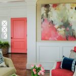 Decoración de interiores color coral