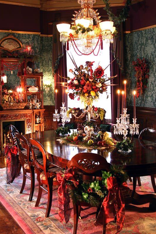 Decoraci n de mesas elegantes para cena navide a - Decoracion para mesa navidena ...