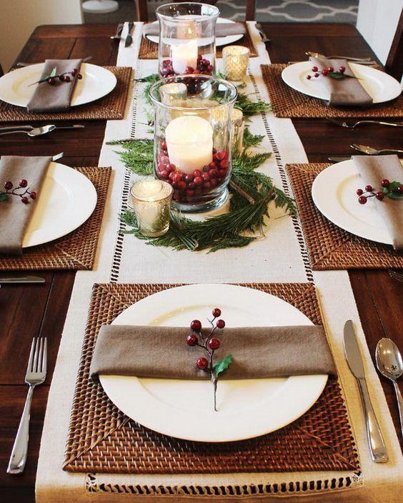 Decoracion de mesas elegantes para cena navidena 13 - Decoracion para mesa navidena ...