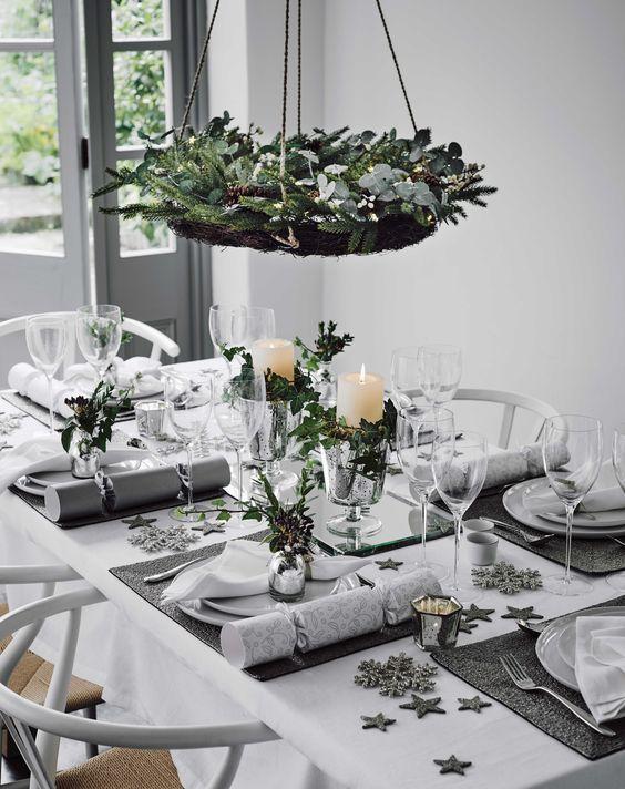 Decoracion de mesas elegantes para cena navidena 14 for Decoracion navidena elegante