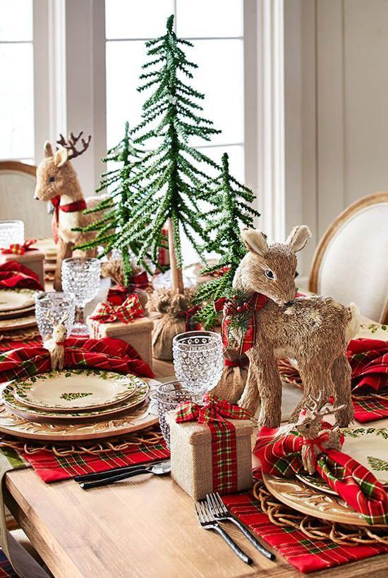 Decoraci n de mesas elegantes para cena navide a for Decoracion de mesa navidena