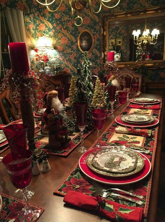 Decoracion de mesas elegantes para cena navidena 17 for Decoracion navidena elegante