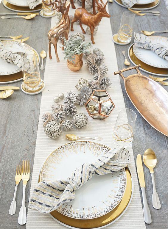 Decoracion de mesas elegantes para cena navidena 22 for Decoracion navidena elegante