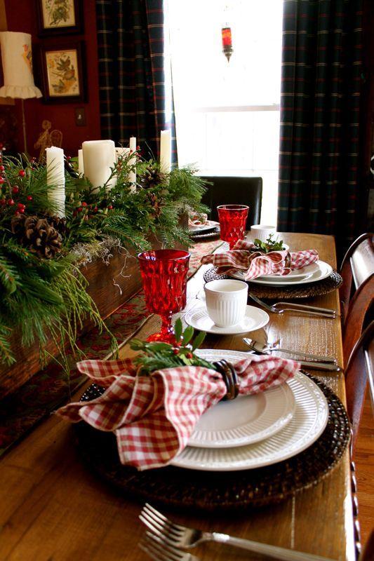 Decoracion de mesas elegantes para cena navidena 25 - Decoracion navidena de casas ...