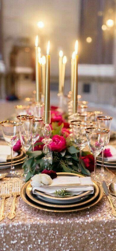 Decoracion de mesas elegantes para cena navidena 27 for Decoracion navidena elegante