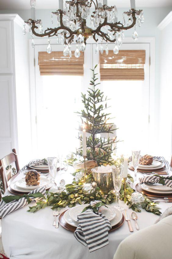 Decoraci n de mesas elegantes para cena navide a - Decoracion de mesa navidena ...
