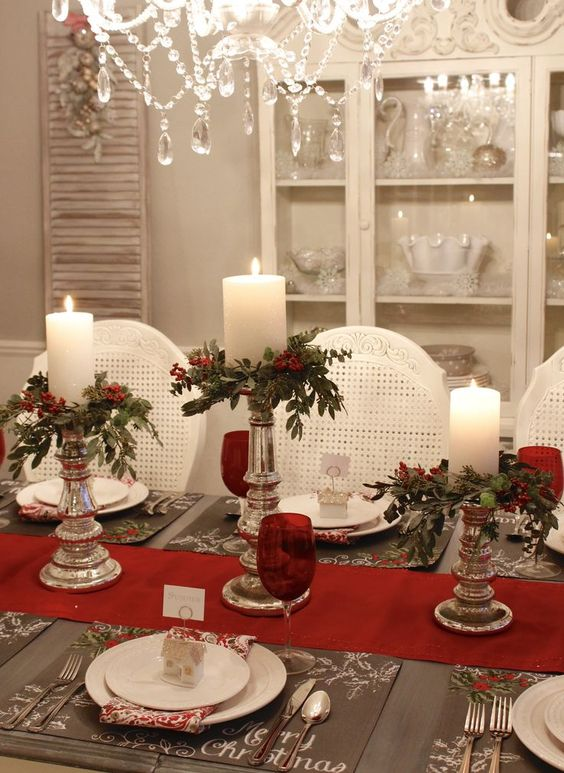 Decoraci n de mesas elegantes para cena navide a curso de decoracion de interiores - Decoracion navidena para casas ...