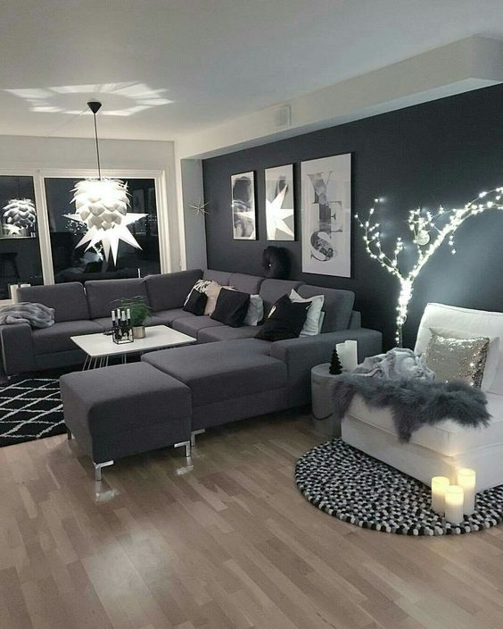Decoracion moderna en color gris 1 decoracion de - Decoracion en gris ...