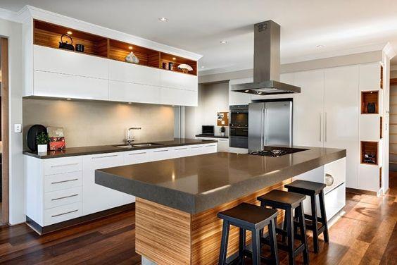 Dise os de barras de cocinas modernas curso de - Barras de bar para cocinas ...