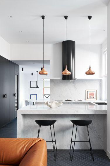 Disenos De Desayunadores Modernos Con Sillas Altas 18