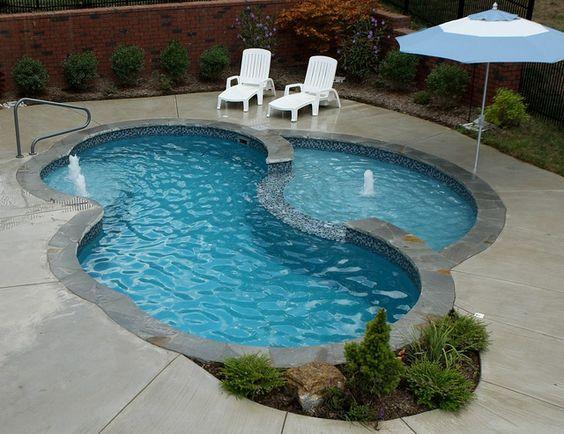 Disenos de piscinas pequenas pero con mucho estilo 8 - Piscinas interiores pequenas ...