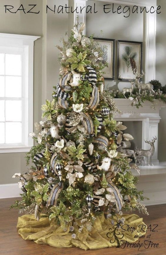 Ideas de decoraci n de rbol de navidad tendencias 2018 - Decoracion arbol ...