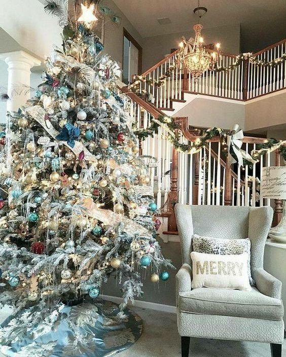 Ideas de decoraci n de rbol de navidad 2017 2018 for Decoraciones para navidad interiores