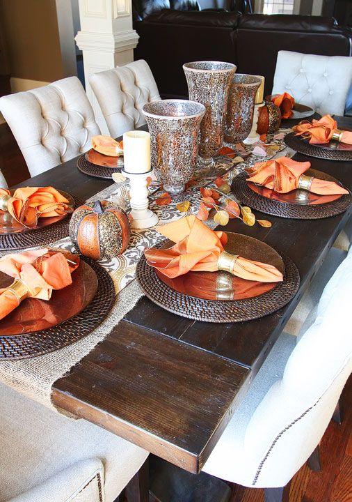 Ideas para decorar la mesa en accion de gracias 10 for Decoracion de mesa para accion de gracias