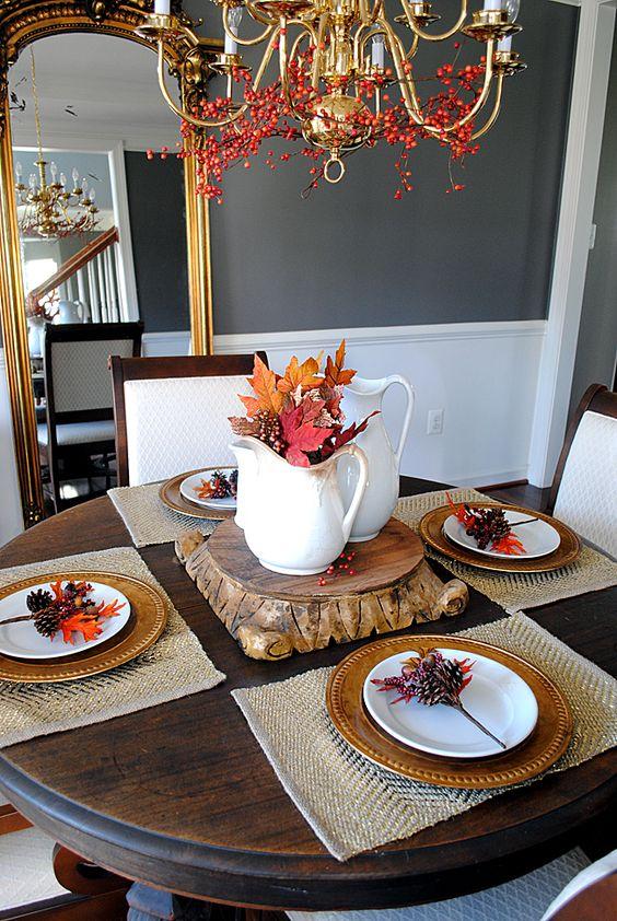Ideas para decorar la mesa en accion de gracias 23 for Decoracion de mesa para accion de gracias