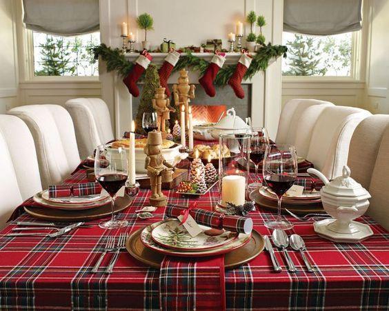 Ideas para decorar tu mesa en la cena navide a 2017 2018 - Decoracion navidena de casas ...