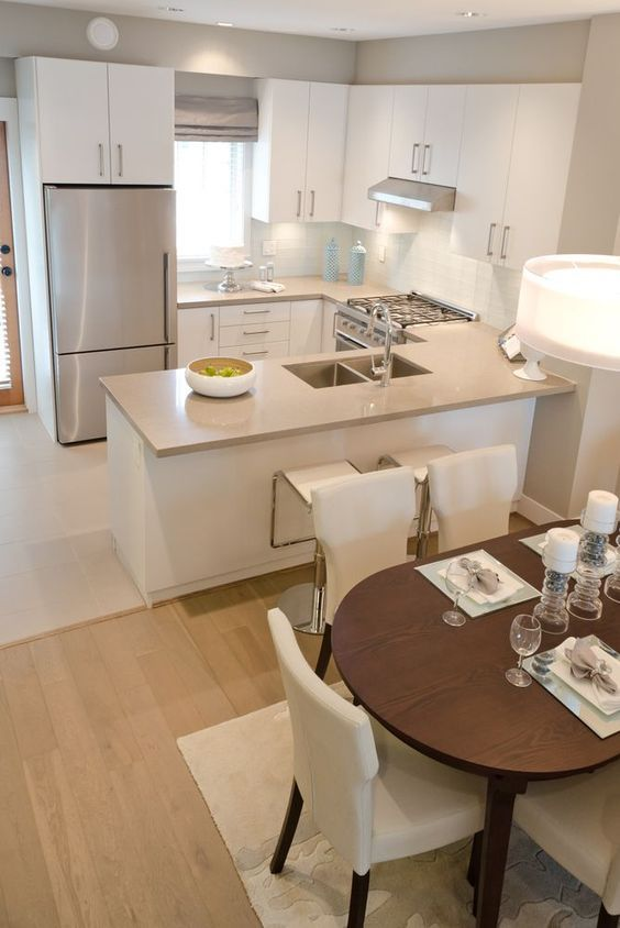 Ideas para integrar sala comedor y cocina decoracion de - Iluminacion para cocina comedor ...