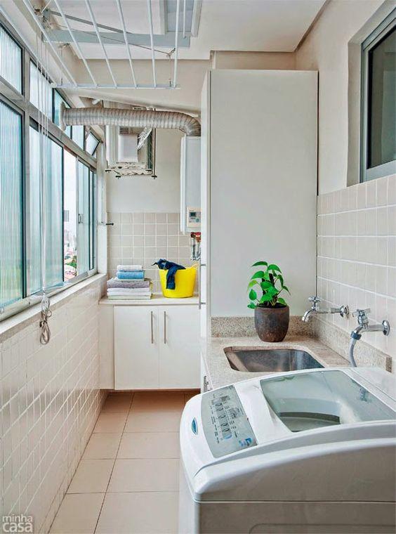 Cuartos de lavado en espacios pequeños