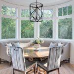 Magnifica decoración de comedores con mesas redondas