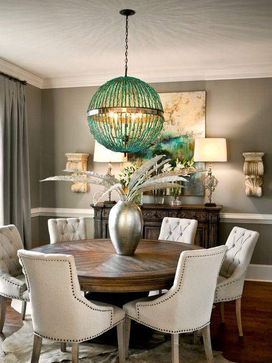 magnifica-decoracion-de-comedores-con-mesas-redondas (25) | Curso de ...