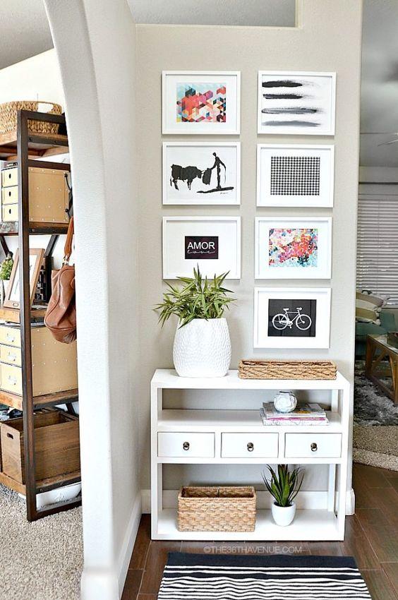 Mas de 30 ideas para recibidores pequenos y acogedores 8 - Ideas para recibidores ...