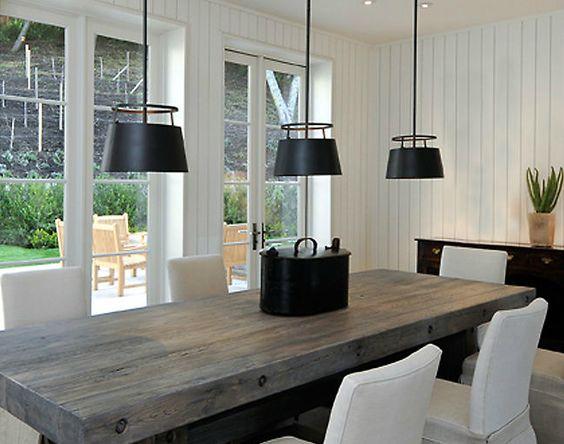 Mesas estilo rustico moderno para tu comedor 13 curso - Decoracion de interiores rustico moderno ...