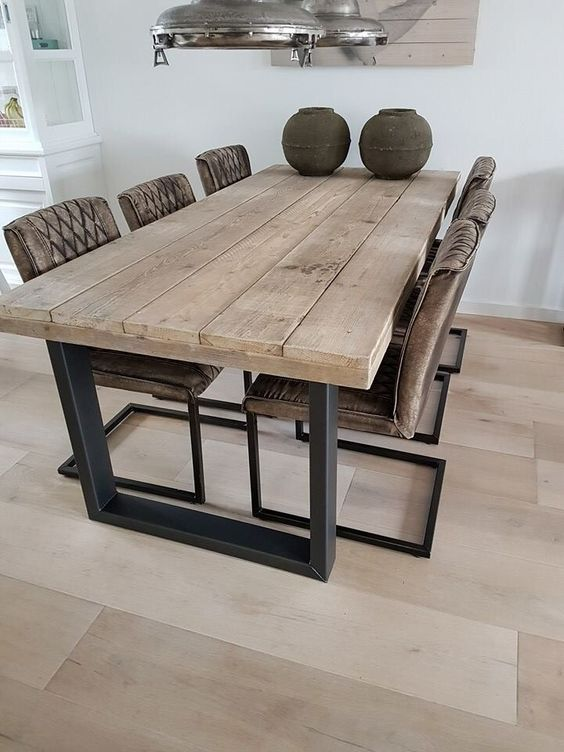 Mesas estilo rustico moderno para tu comedor 16 for Estilo moderno interiores