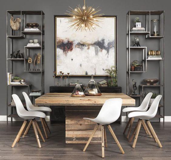 mesas-estilo-rustico-moderno-para-tu-comedor (21) | Curso de ...