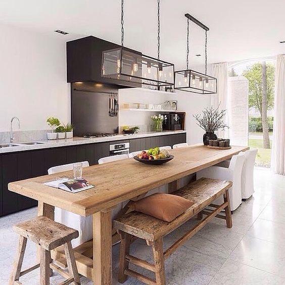 mesas-estilo-rustico-moderno-para-tu-comedor (24) | Curso de ...