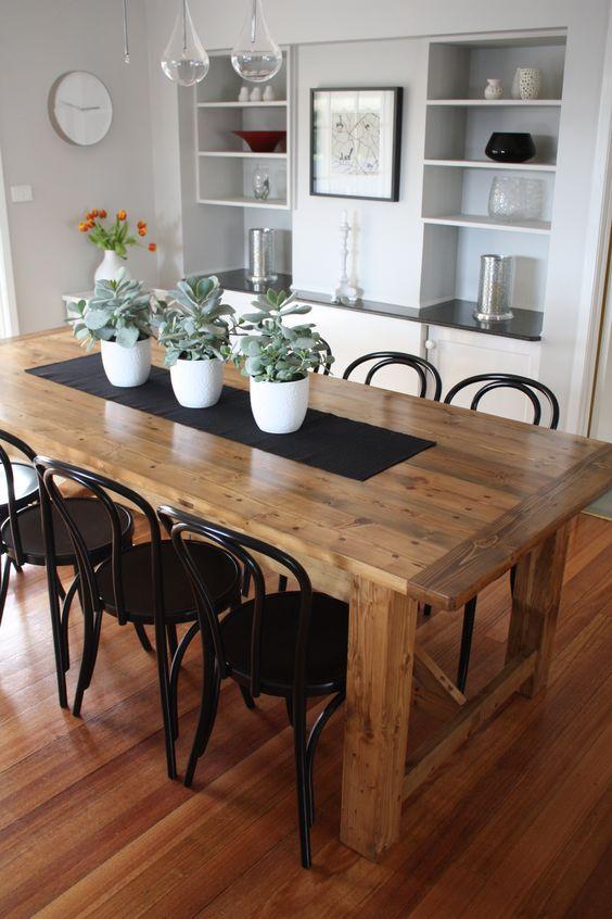 Mesas estilo rustico moderno para tu comedor decoracion for Decora tu comedor
