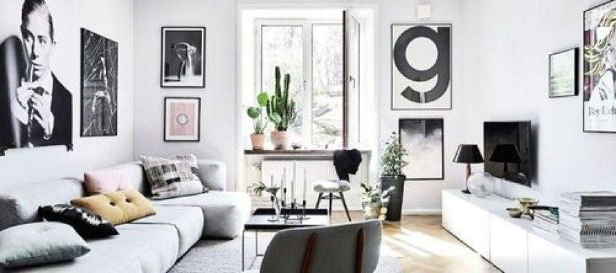 Salas blanco y negro decoracion de interiores for Sala de estar blanco y negro
