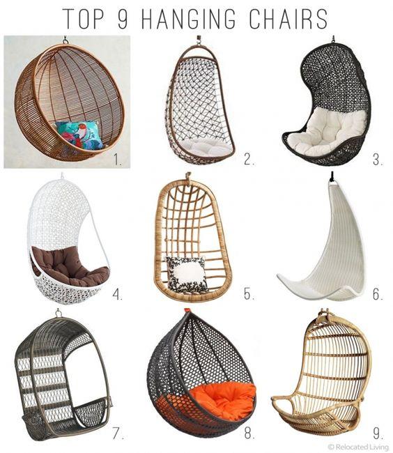 Sillas colgantes para exterior 16 decoracion de - Sillas colgantes interior ...