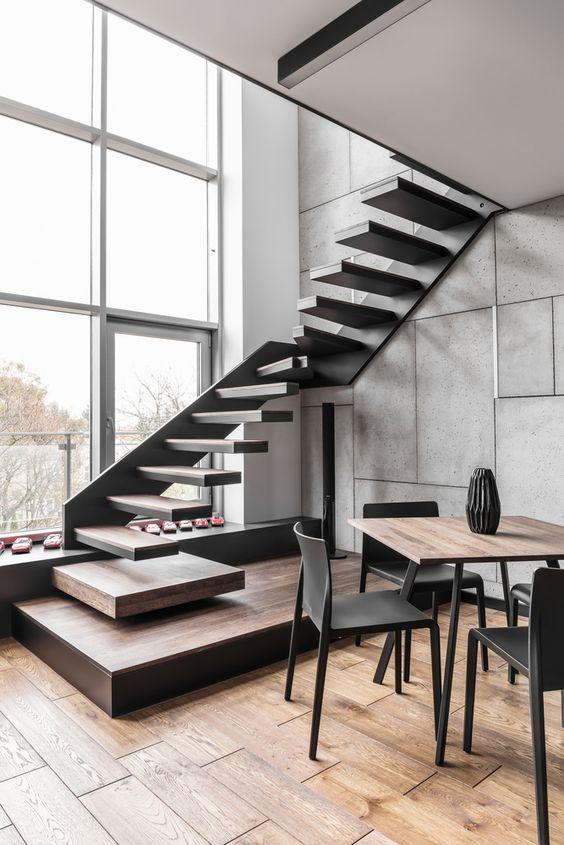 Tendencias en escaleras interiores de herreria 11 for Escaleras con descanso para interior