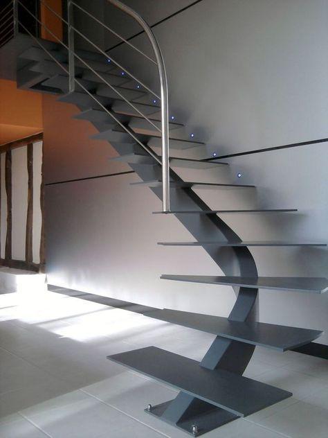 Tendencias en escaleras interiores de herreria 13 Escaleras herreria para interiores