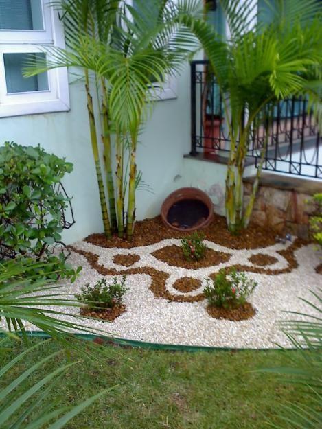 30 ideas preciosas para decorar tu jardin con grava blanca 10 curso de decoracion de - Jardin con grava ...