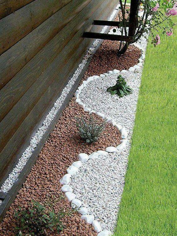 30 ideas preciosas para decorar tu jardin con grava blanca 21 curso de decoracion de - Jardin con grava ...