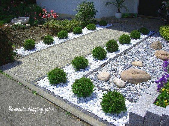 30 ideas preciosas para decorar tu jardin con grava blanca