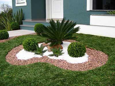 30 ideas preciosas para decorar tu jardin con grava blanca 3 curso de decoracion de - Jardin con grava ...