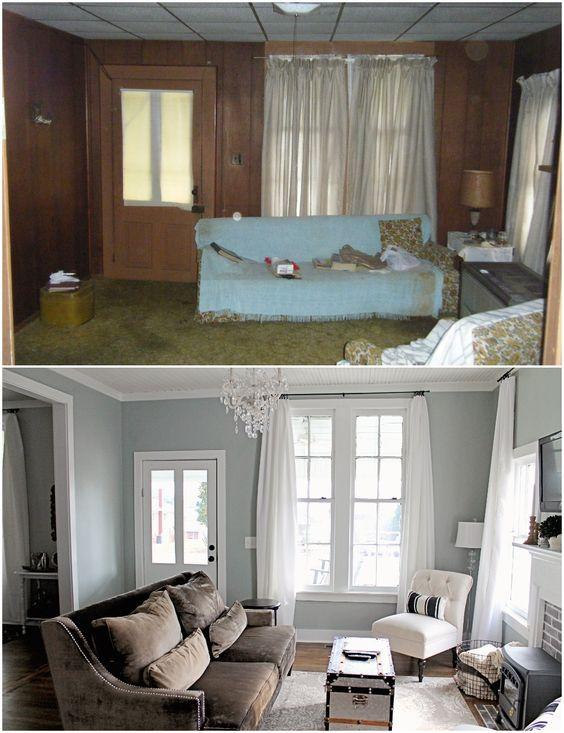 Antes y despu s de la remodelaci n de una casa peque a for Ideas para remodelacion de casas