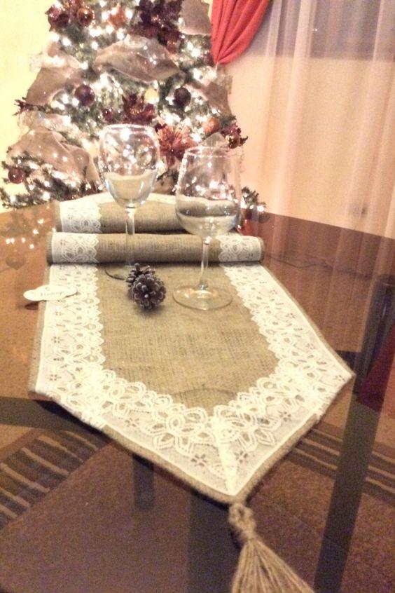 Caminos para mesas de navidad decoracion de - Caminos de mesa de papel ...