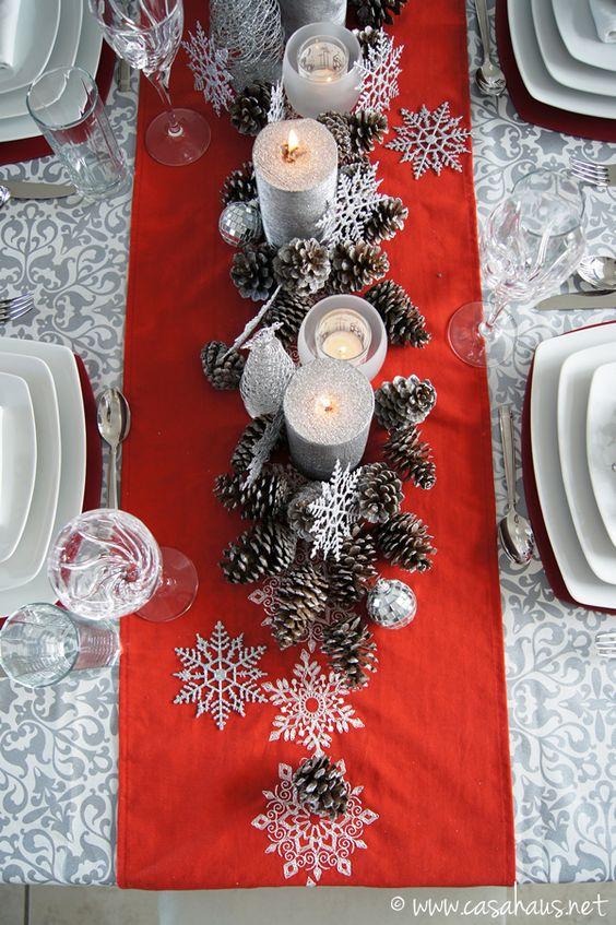 Caminos para mesas de navidad decoracion de - Centros navidenos de mesa ...