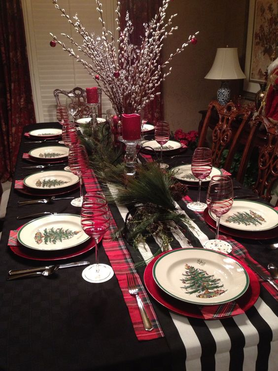 Caminos para mesas de navidad decoracion de - Decoracion de navidad para la mesa ...