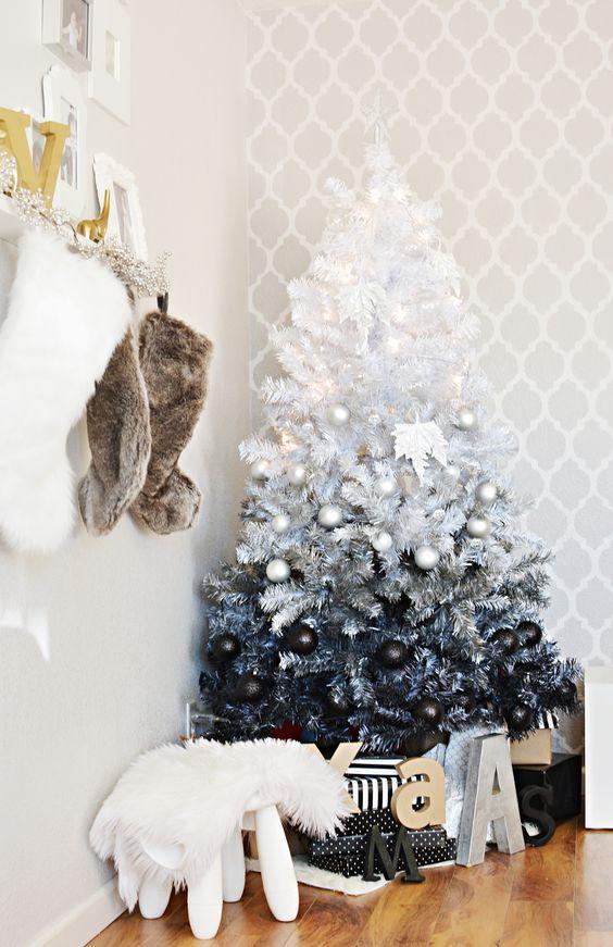 Decoracion de pinos navideños 2017